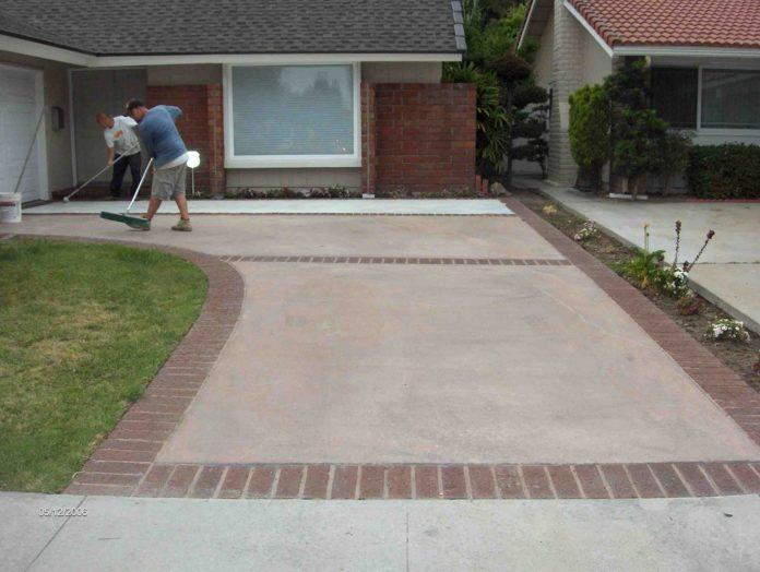 Painting Concrete Driveway